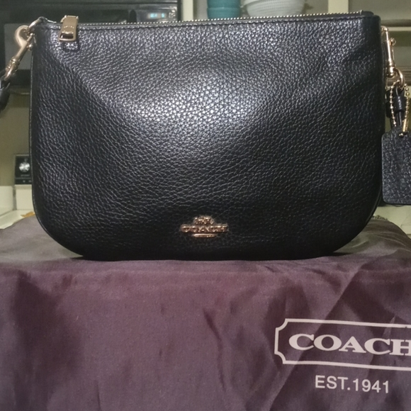 Authentic Coach (Black) Crossbody Leather
